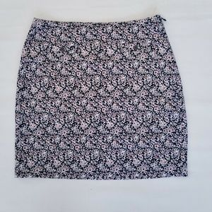 Banana Republic Womens Floral Lined Career Skirt